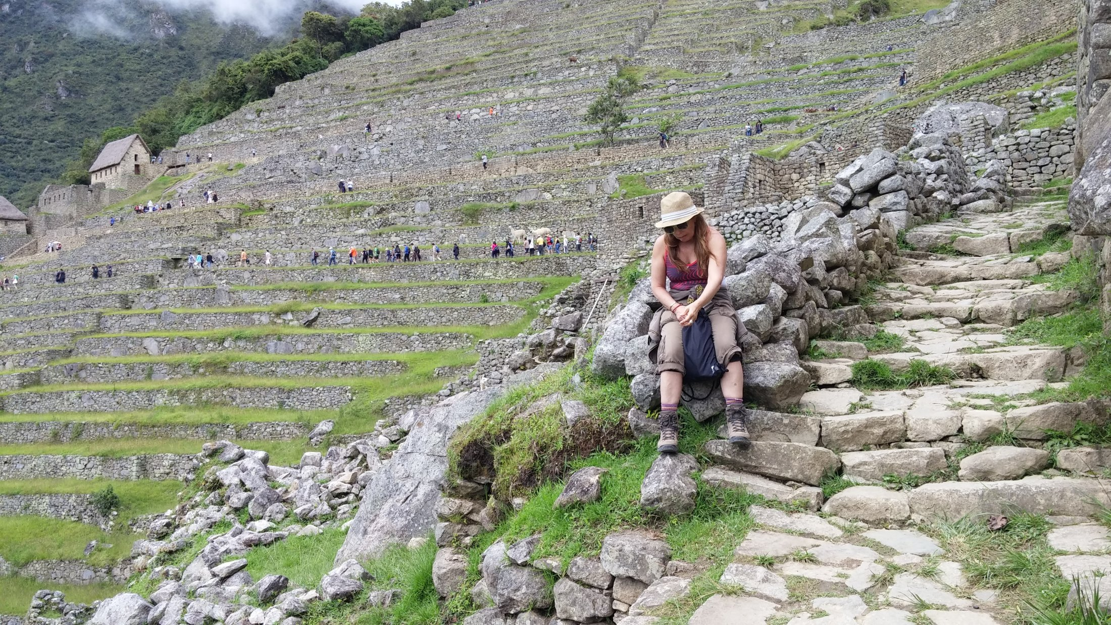 Betty contemplating the Incas