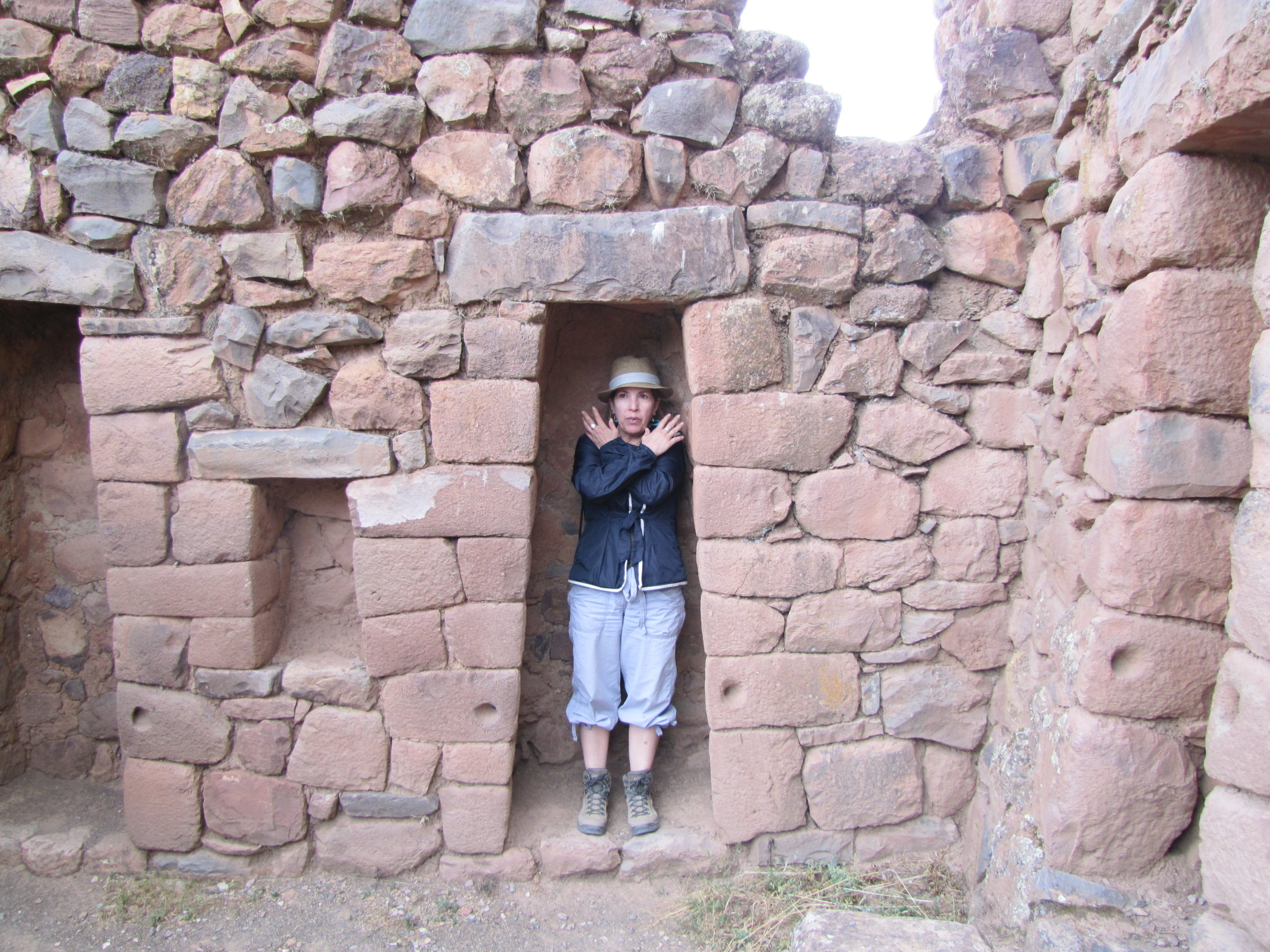 Betty the mummy at Pisac ruins