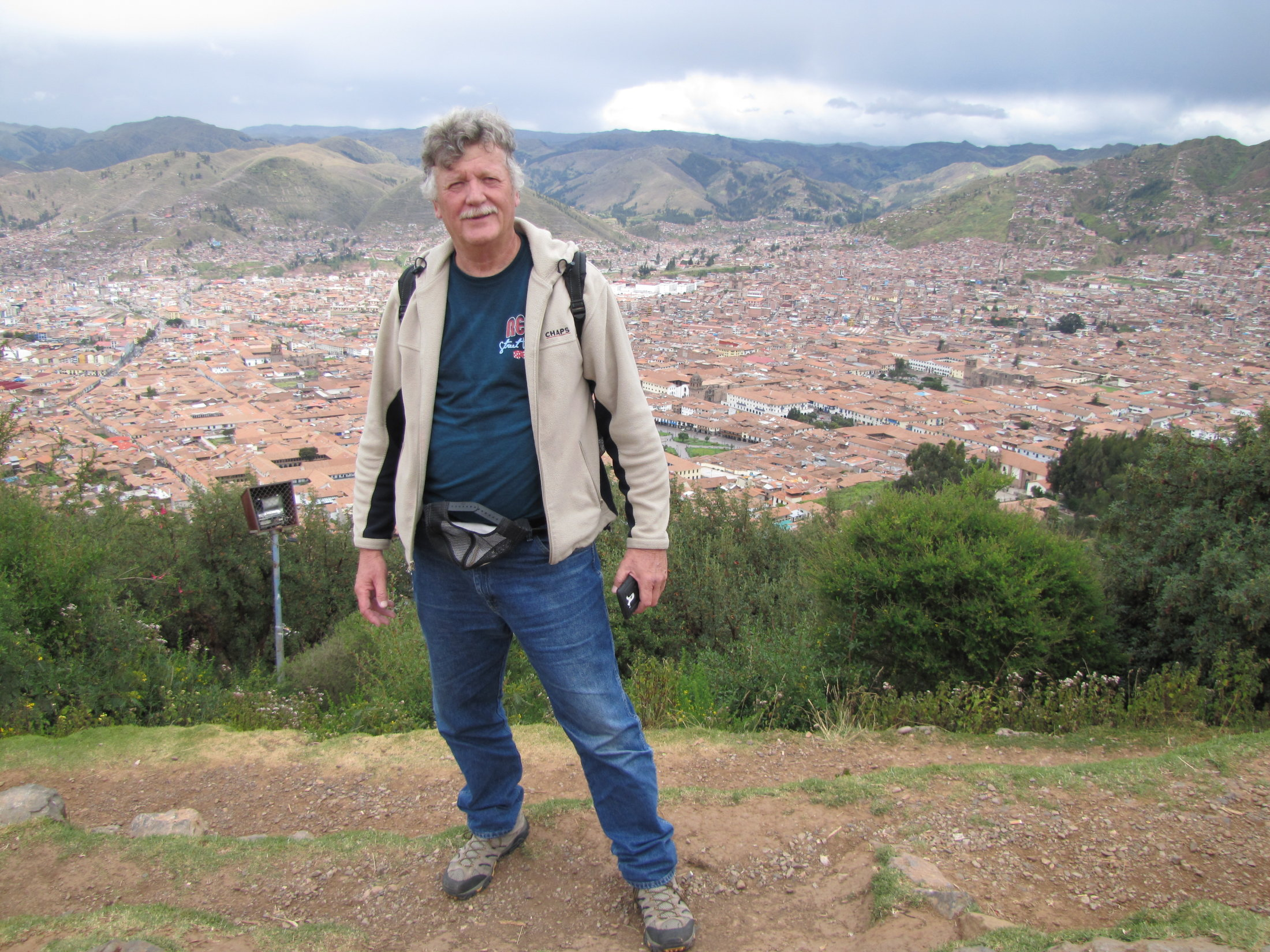 Bob with Cusco in the background