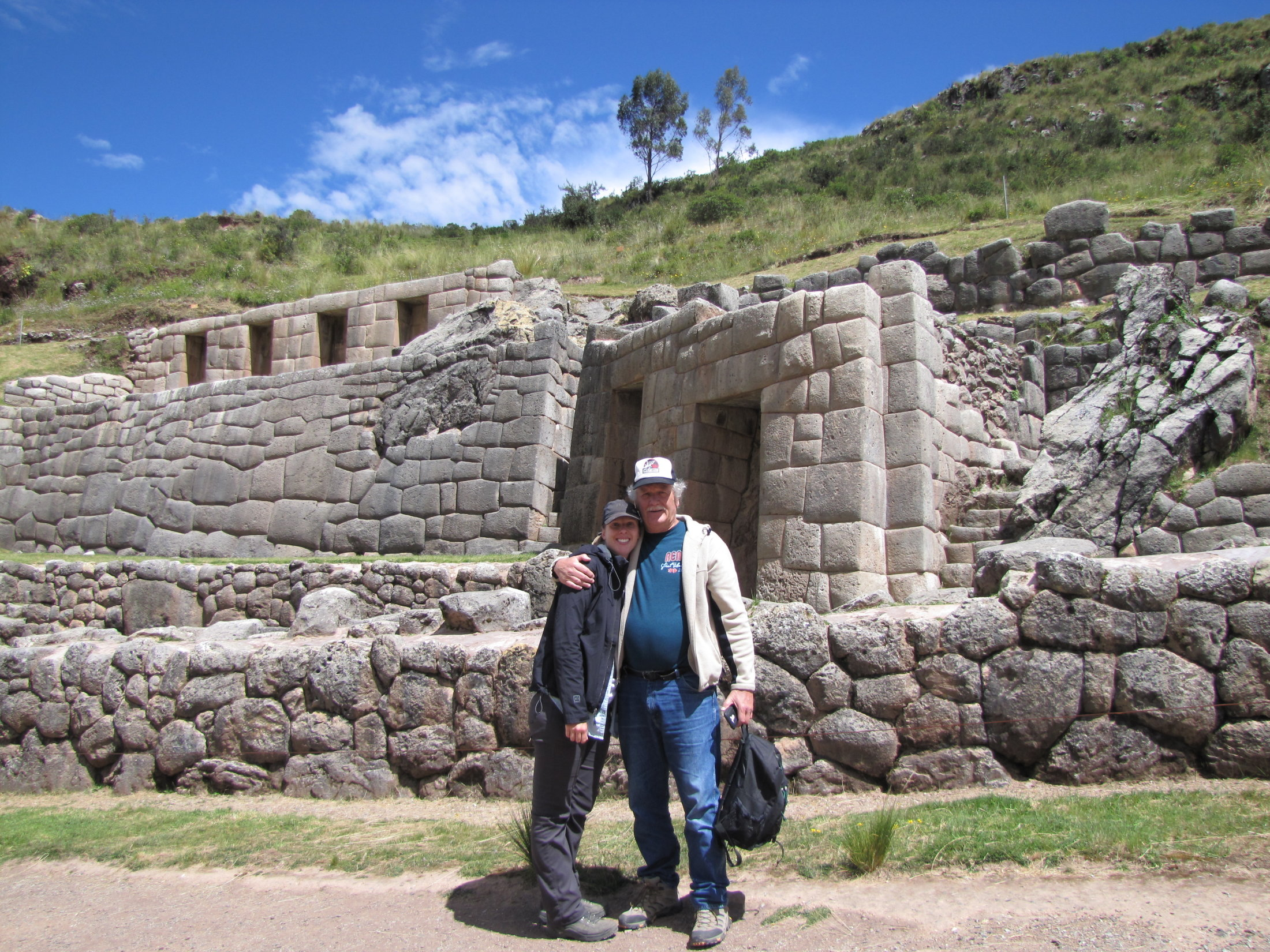 Shannon and Bob at Tambomachay ruins