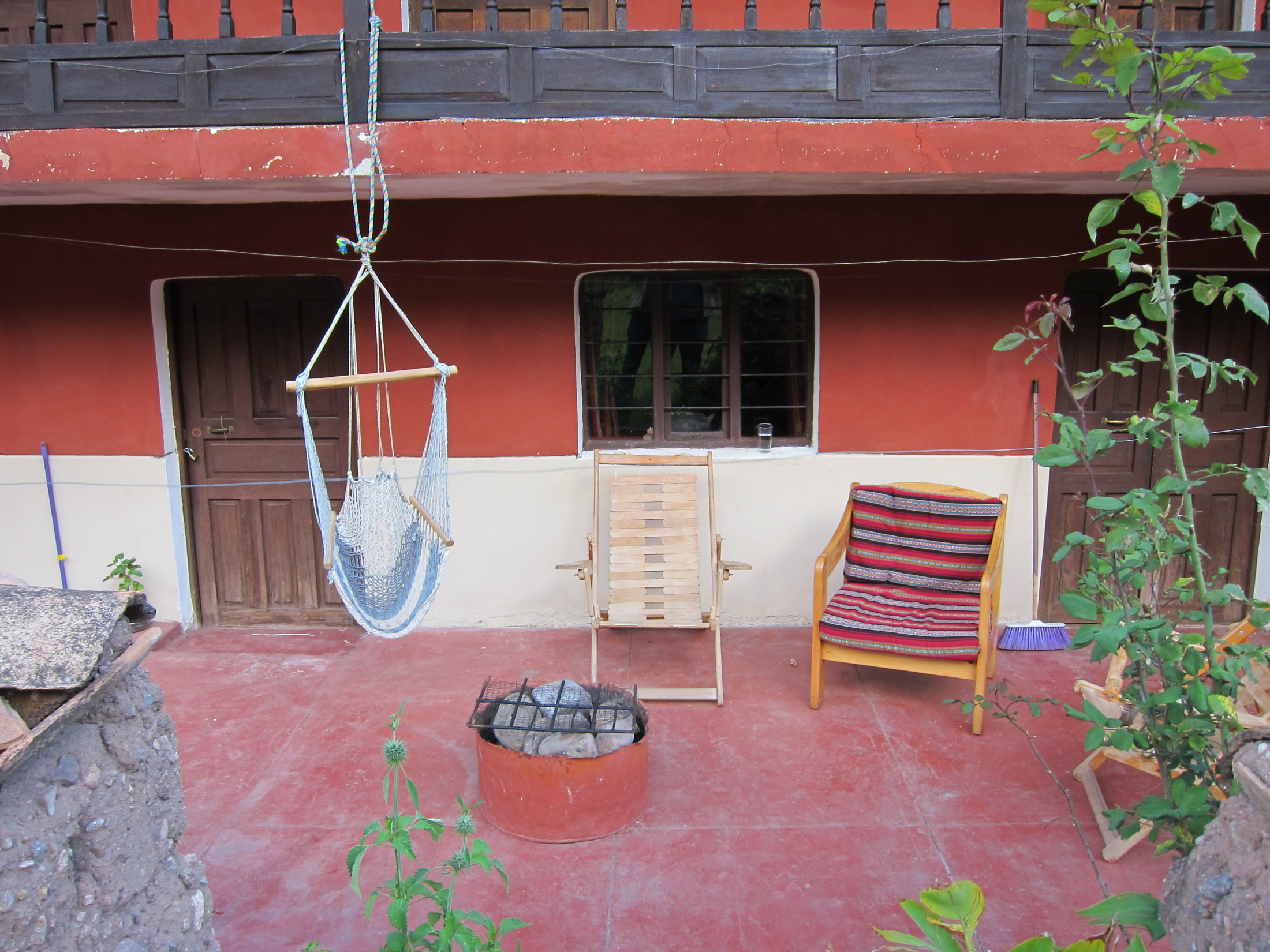 Front patio of our Sacred Valley house