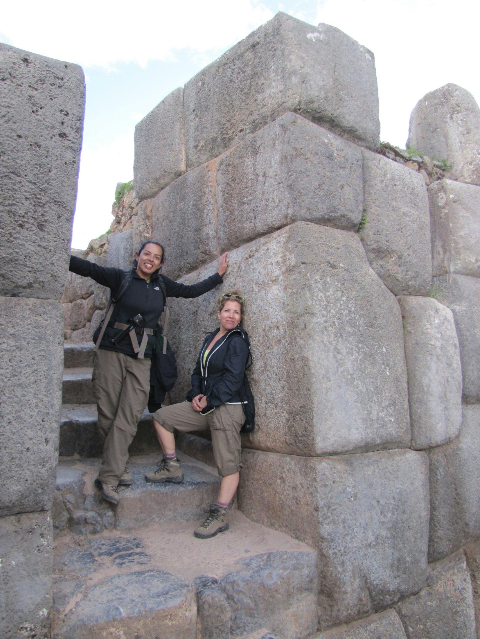 Posing at Saqsaywaman