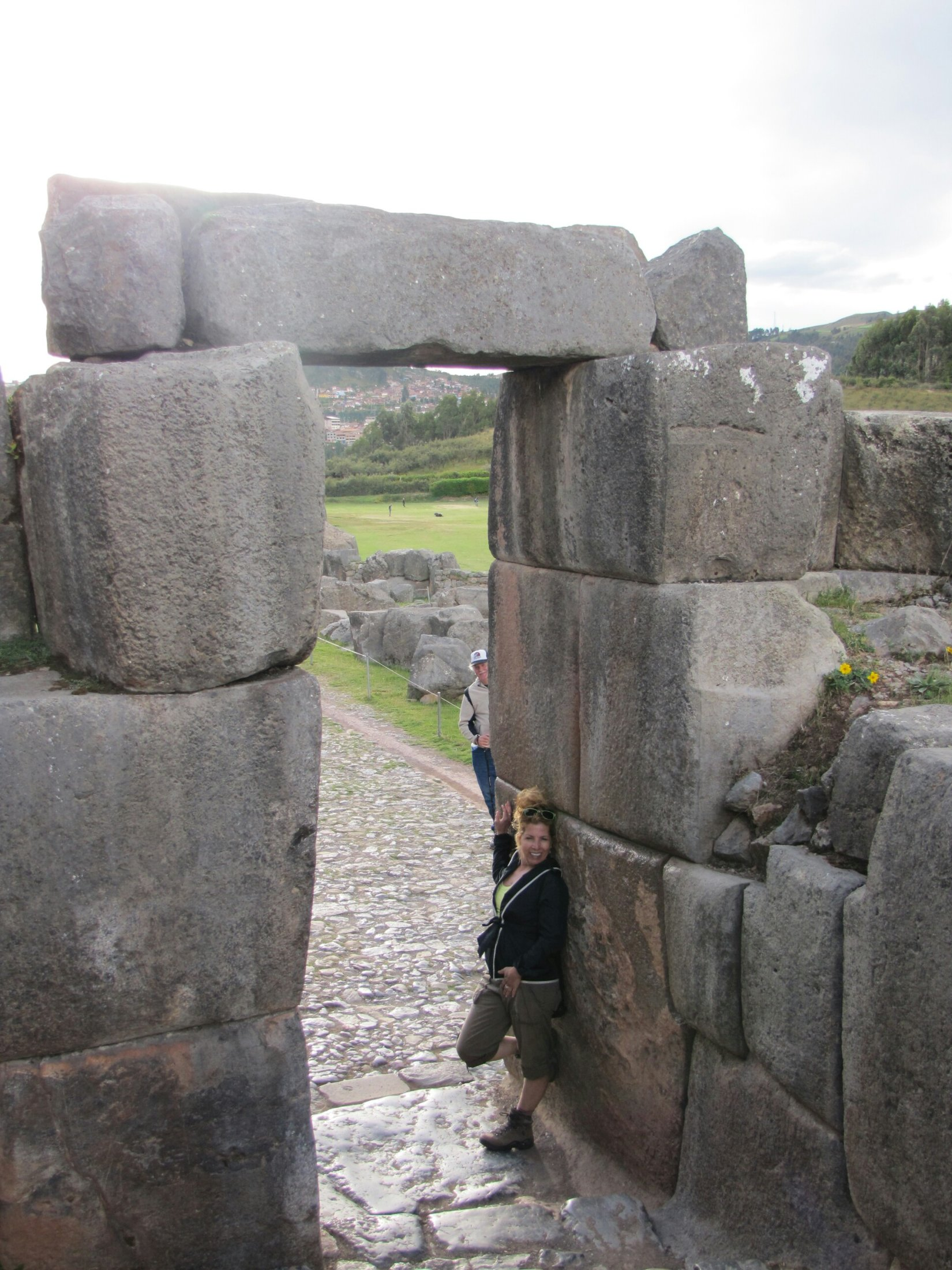 Photobombing at Saqsaywaman ruins
