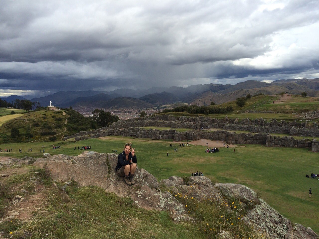 Betty at Saqsaywaman