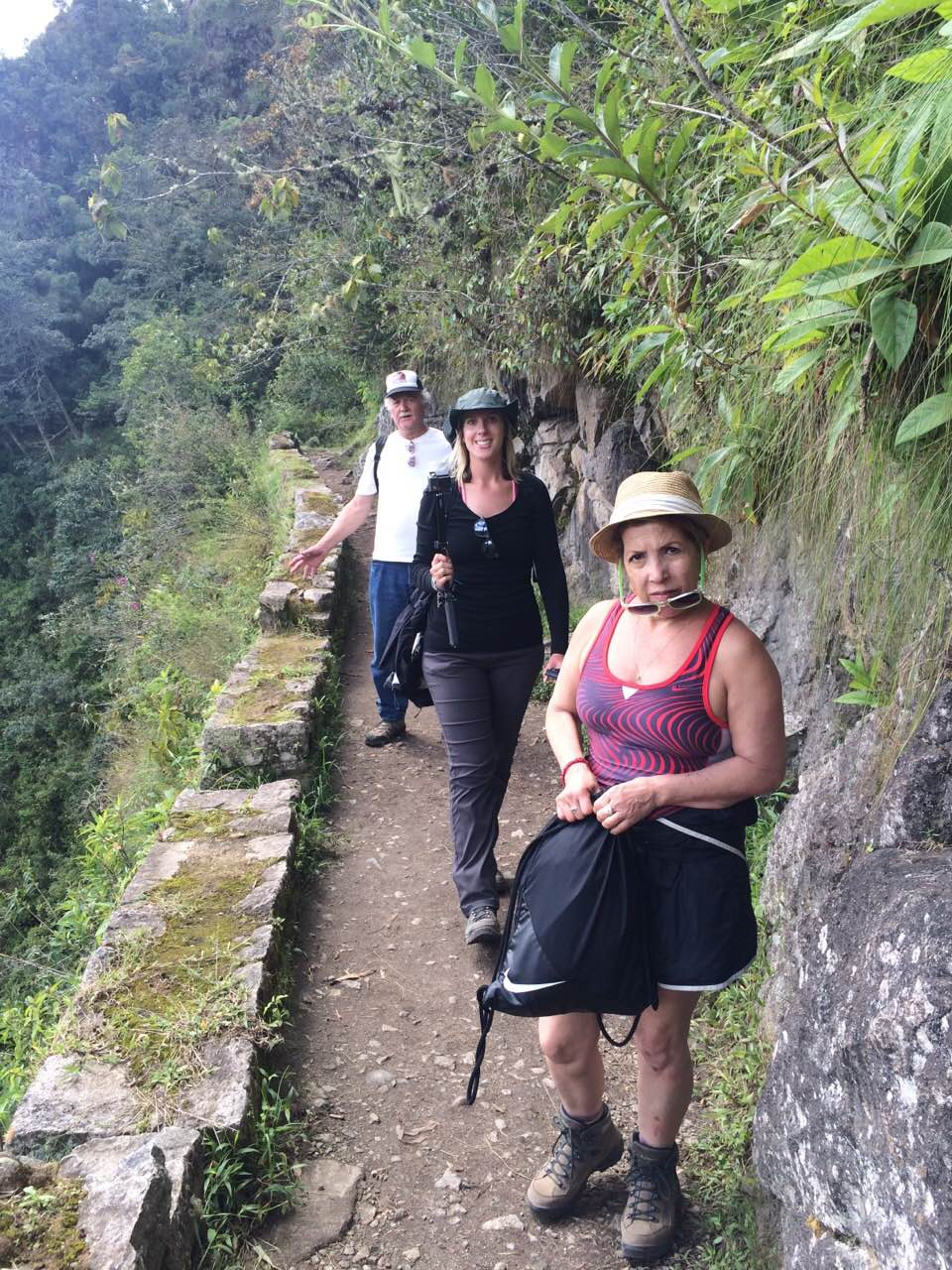 On our way to the Inca Bridge