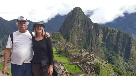 Classic Machu Picchu pic with dad