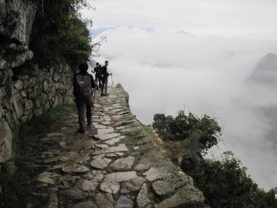 Final part of the trail to Machu Picchu