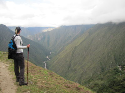 Checking out the Urubamba River