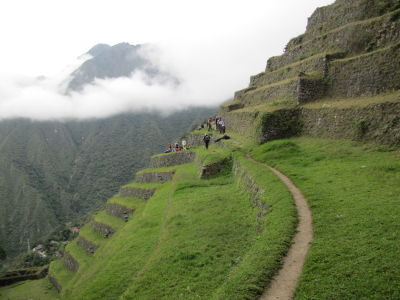 Steep terraces at Intipata