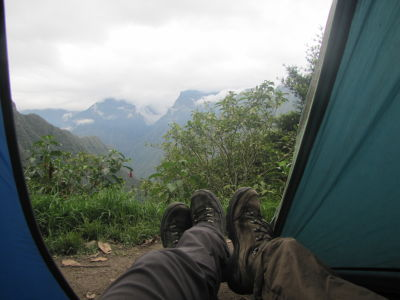 View from our tent on our last night
