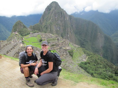 TwoGirls at Machu Picchu