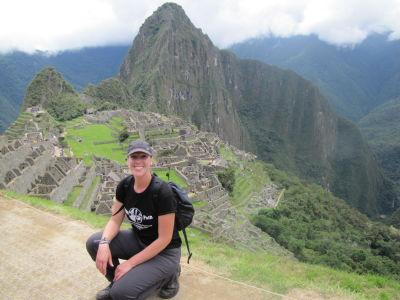 Shannon at Machu Picchu
