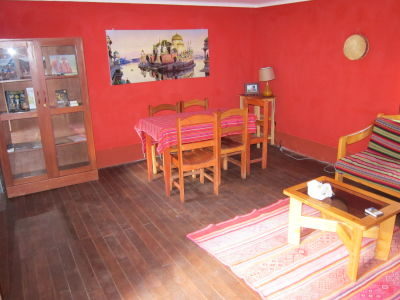 Living room of our Sacred Valley house