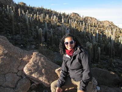 Jen on Cactus Island