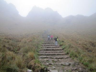 Descending from Dead Woman's Pass