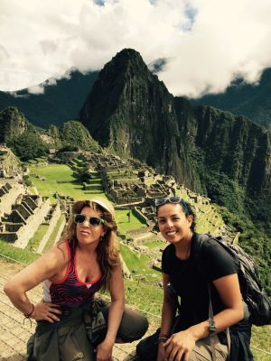 Classic Machu Picchu pic with mom