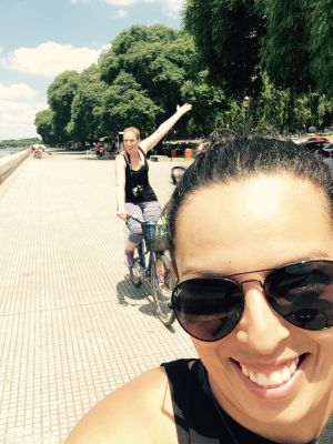 Biking selfies!