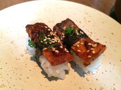 Crunchy salmon skin