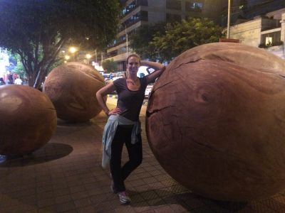 Giant coconuts in the street