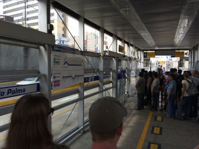 Waiting in line to take the Metropolitano
