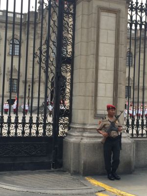 No lack of security at the Palacio de Gobierno