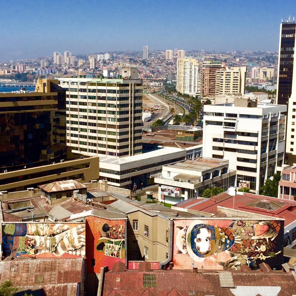 Inti street art mural Valparaiso