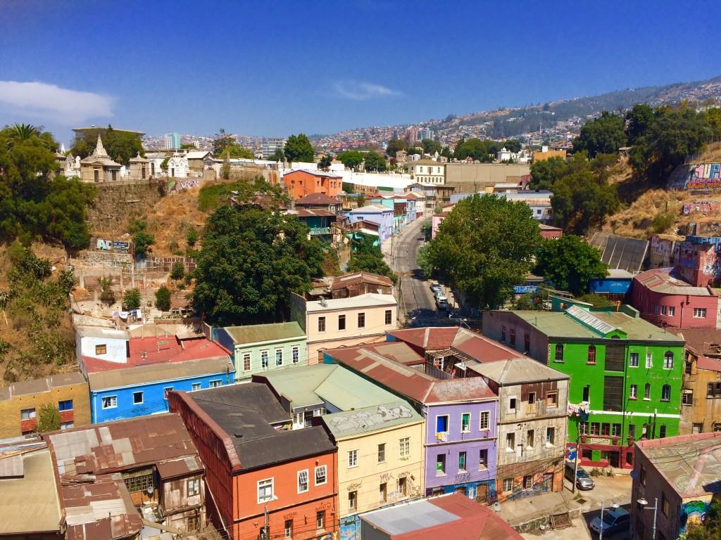 Valparaiso city scape cemetery