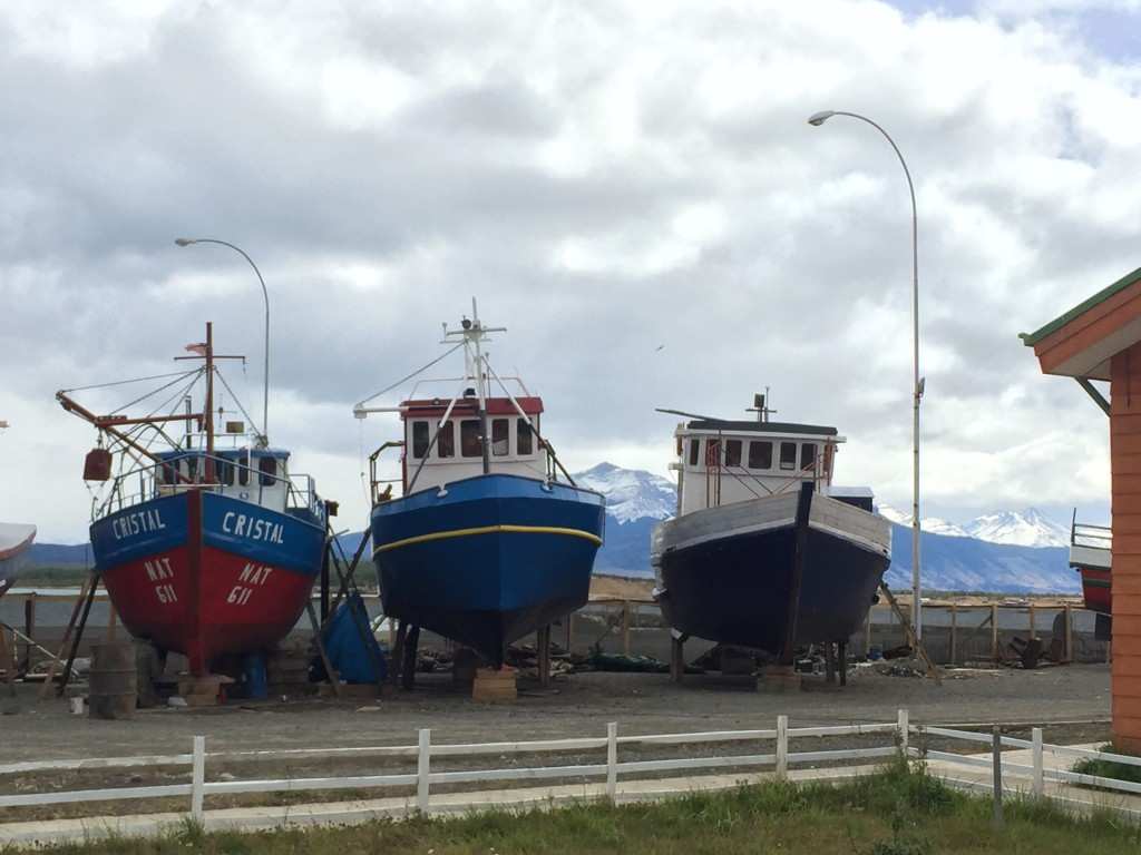 Boats in Puerto Natales Chile