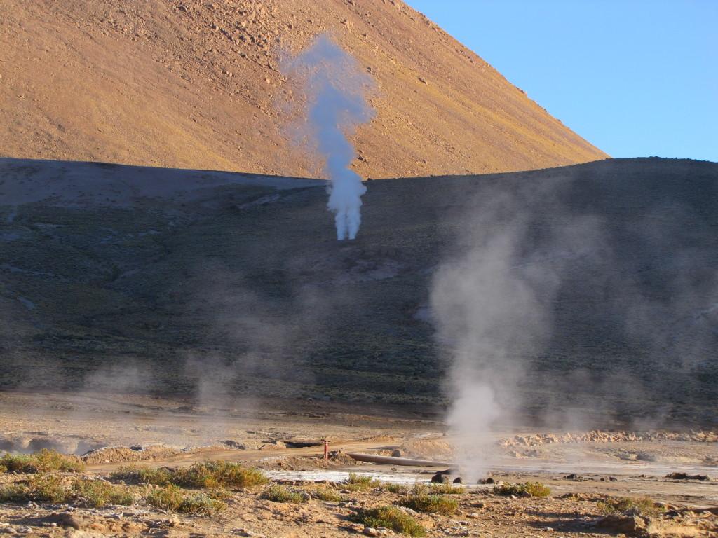 Hillside geysers