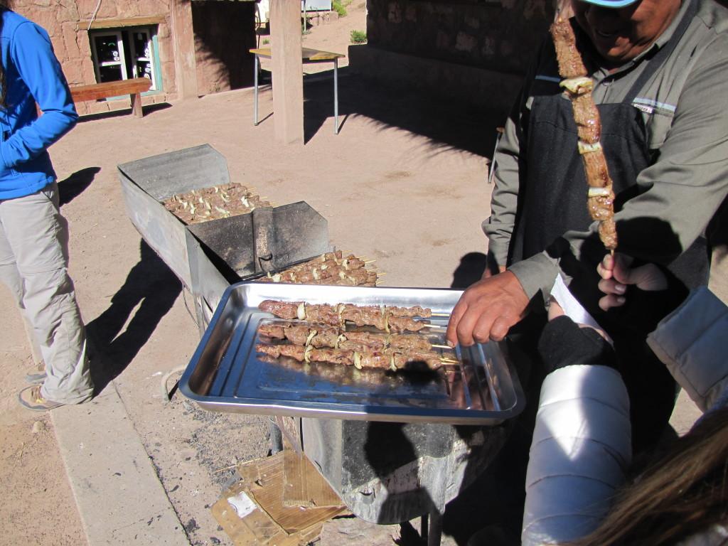 Llama skewers... Delicious!!