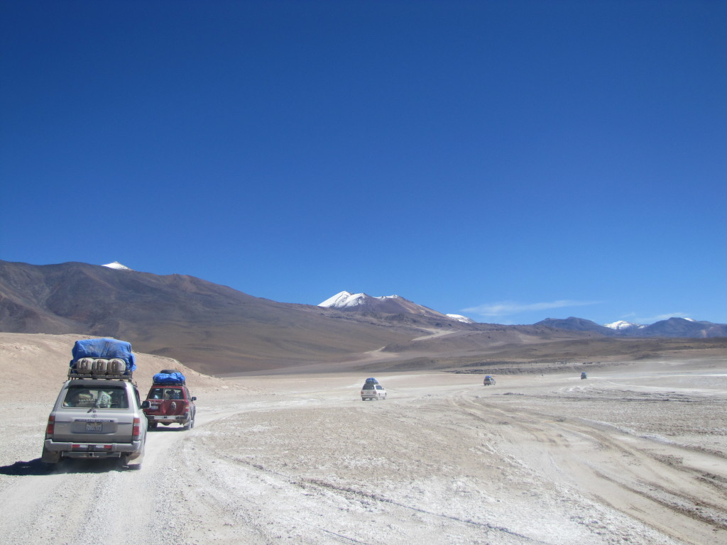 Cruising through Bolivian desert