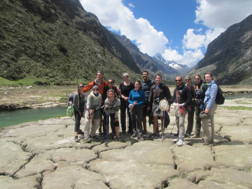 Us with our group on our last day of the trek