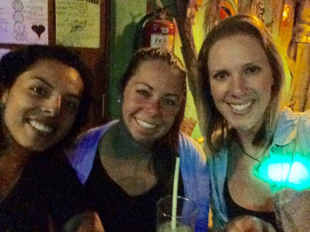 Sampling Huanchaco's nightlife with our friend Jessica